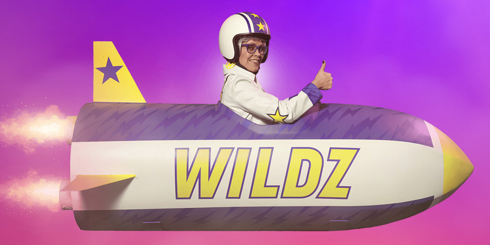 Wildz granny giving thumbs up in rocket